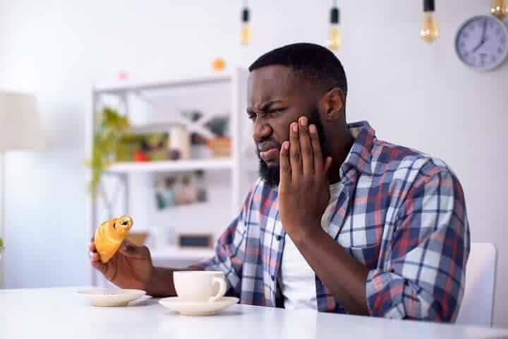 pijn bij eten zoetigheid